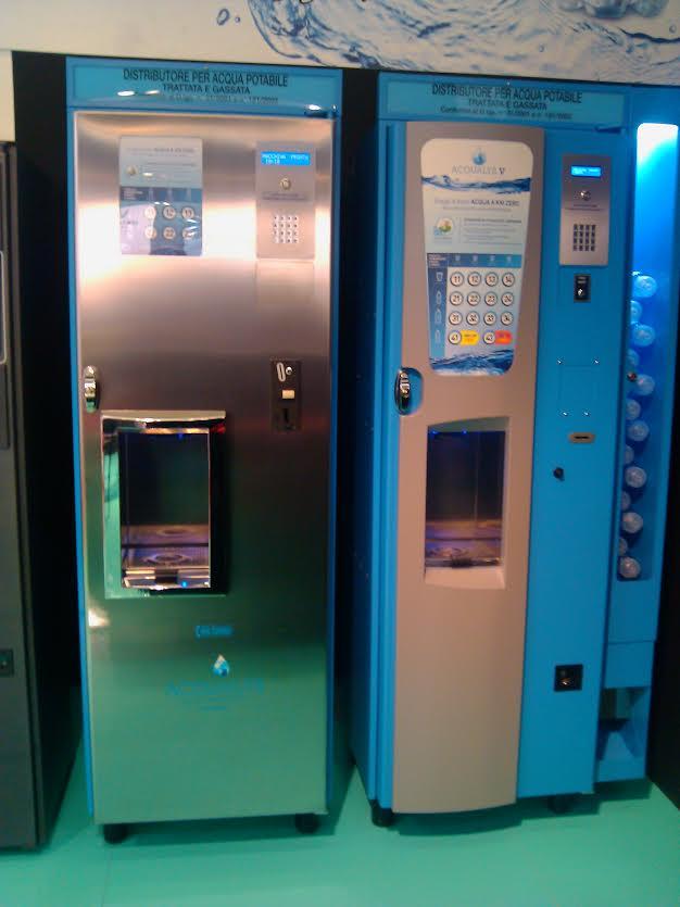 distributore automatico acqua naturale e gassata Acqualys V